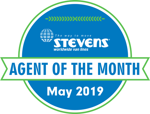Stevens Agent of the Month badge for May 2019